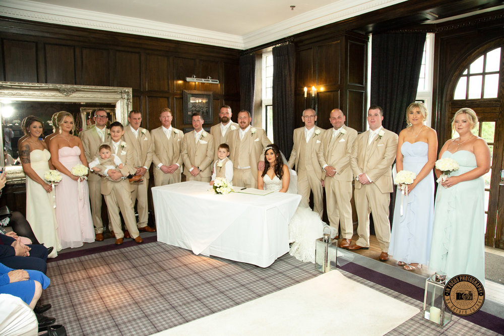 Demi and Alans wedding at slaley hall