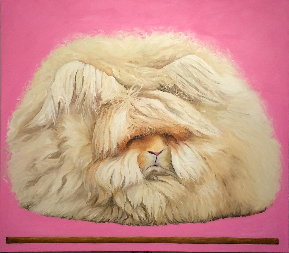 """Angora (fawn) oil on canvas 2018 (52 x 48"""")"""