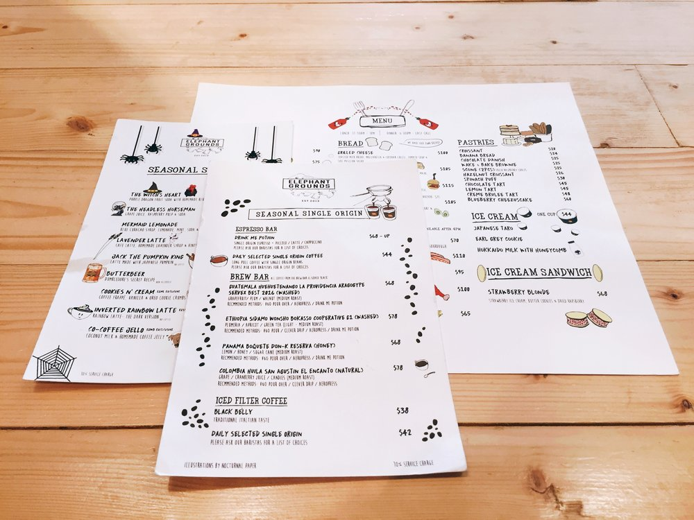 What a cute menu! <3