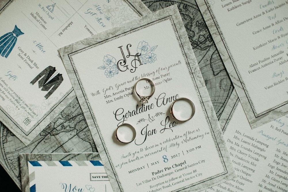 Leo & geraldine - wedding invitation design