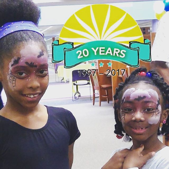 We had a GREAT time painting on the kids and adults at the Jacksonville Library 20th Celebration this past Saturday. #jaxpubliclibrary #jaxpubliclibraries #facepaintingjacksonvillefl