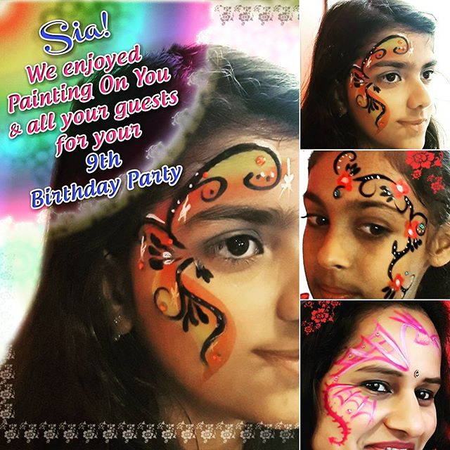 Sia we enjoyed Painting On You and all your guests during your 9th Birthday Party! It was a great party at THE INDIA HOUSE 8661 Baymeadows Rd. Thanks letting us be apart of your celebration. #indiahousejax #siabirthday #facepaintingjacksonvillefl #facepainting #9thbirthdayparty