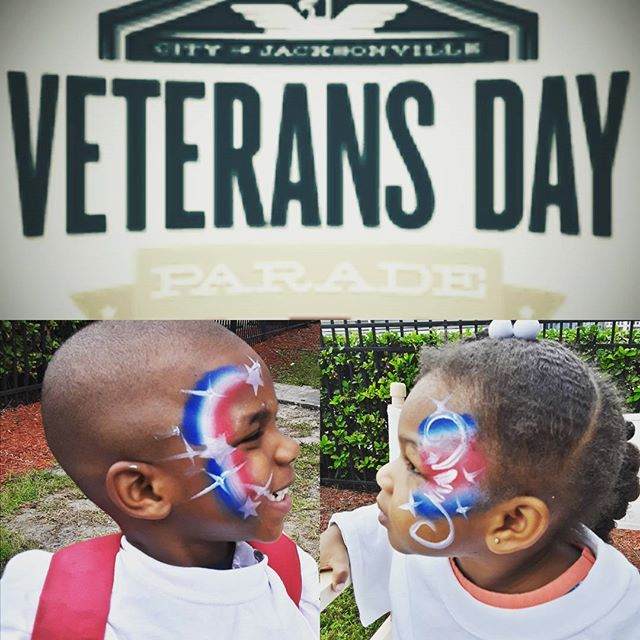 Great time painting on the little ones at the Veterans Day Parade 2017. #paintonyou #paintingonyou, #veteransdayparade2017, #jaxcommunityevents