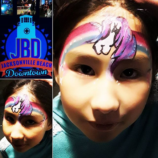 Creative sightings at Jax Beach Art Walk. It was cold, but great to see those interested in art and creativity. #JBAW, #facepainting, #paintonyou, #artwalk, #jaxbeach
