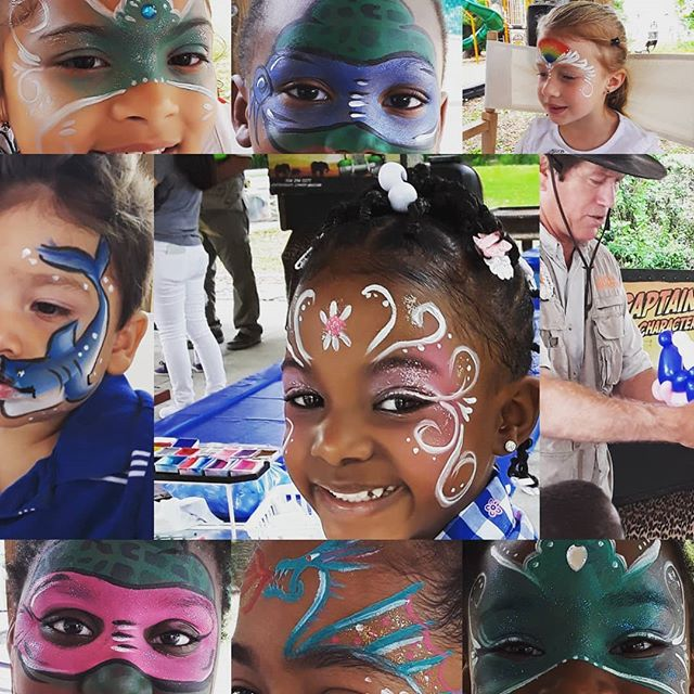 Oh! My! Rainbows, Princesses, Sharks, Ninjas, Drangons and swirls. Paint On You had a WONDERFUL time painting on all the kids at CHS Fsmily event today. Gene's puppet show and ballons were also AWESOME!! #facepaint #familyfun #CHS #kids #puppetshow #facepaintjax @jax4kids @chs @news4jax #orangepark