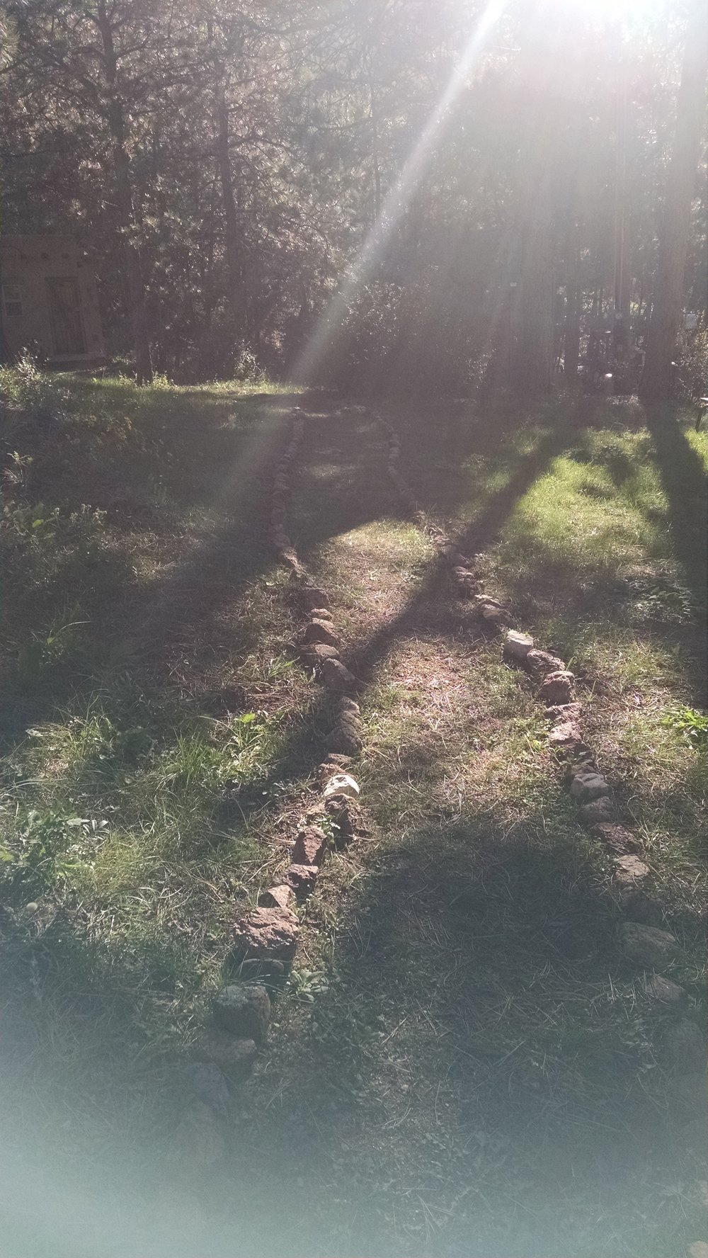 My Soul was fascinated by the way the sunlight was streaming onto this path at the Wild Divine Retreat Center