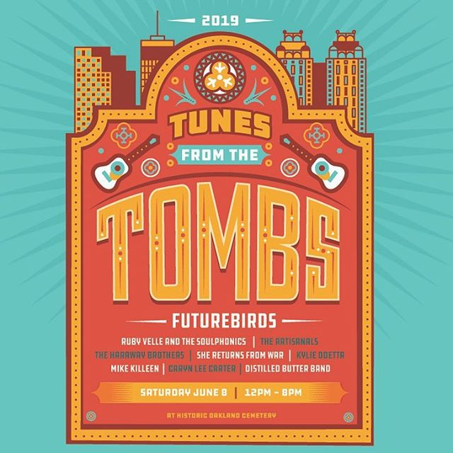 Come get creepy with me at @oaklandcemetery on June 8! #TunesfromtheTombs is back, and I'm super excited to be in this year's lineup alongside @Futurebirds!