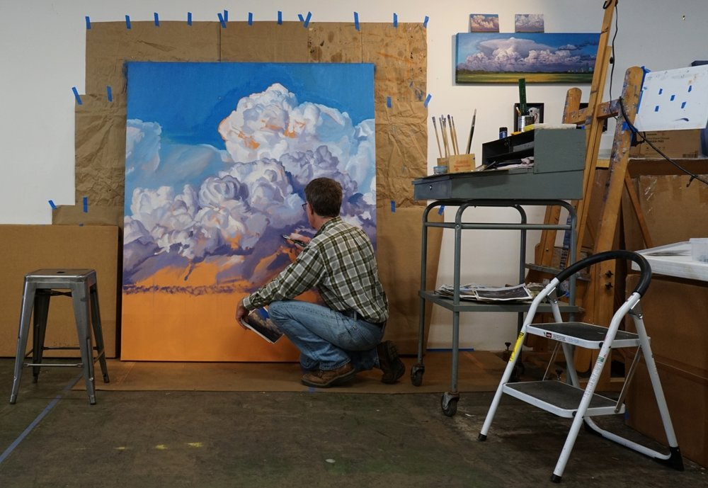 Holland with a work in progress for his exhibition and residency.
