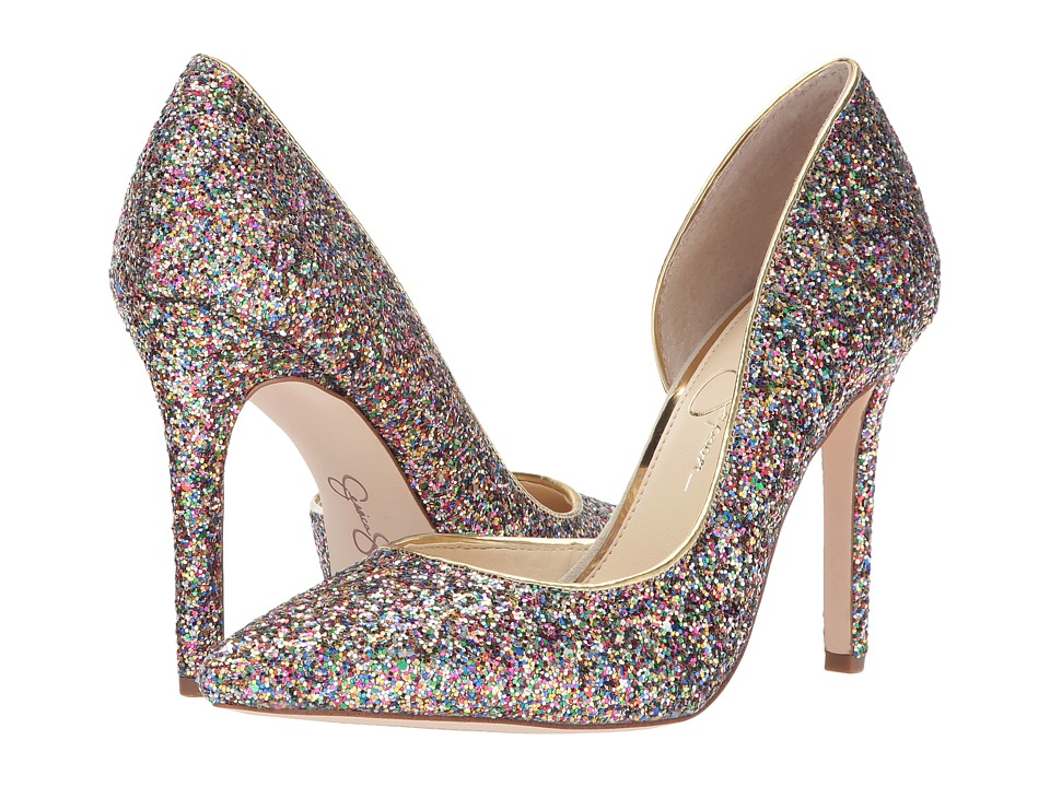 Sparkly Shoes - These cute Claudette Pumps in Rainbow by Jessica SImpson are available at the Bay. They would be magical paired with a neutral outfit, such as black skinny jeans and black tunic.