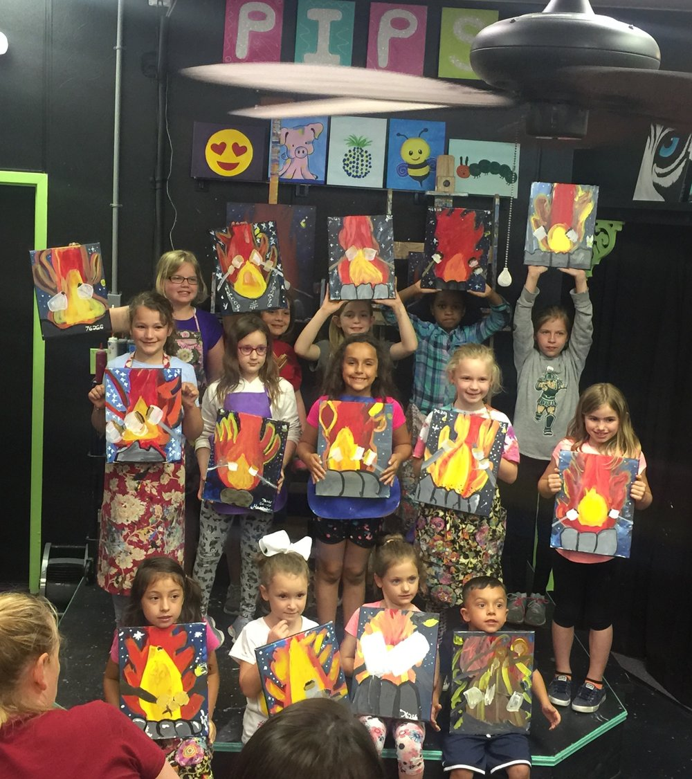 Girl Scouts earned their Painting Badge!! Awesome job, everyone!!