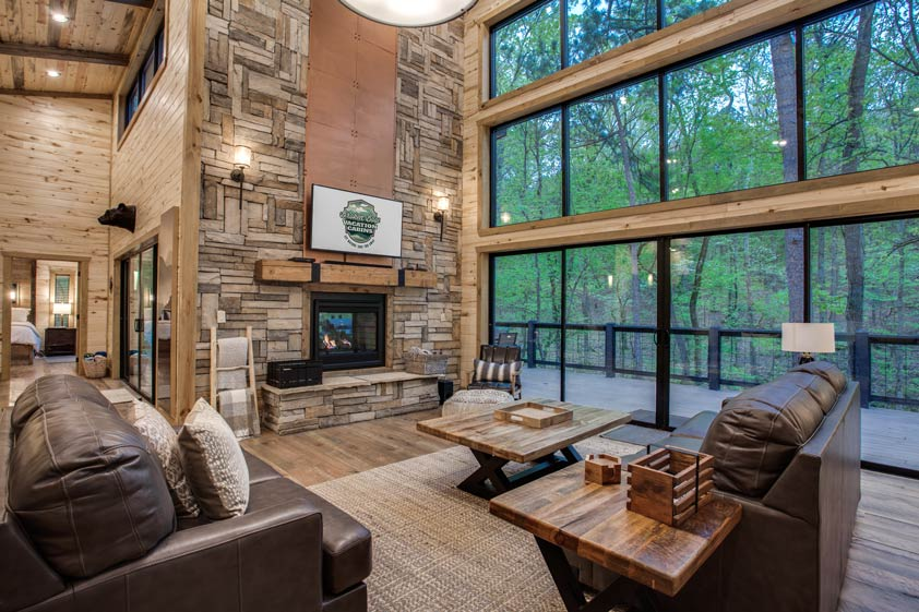 Rustic Hollow Cabin | Living Room