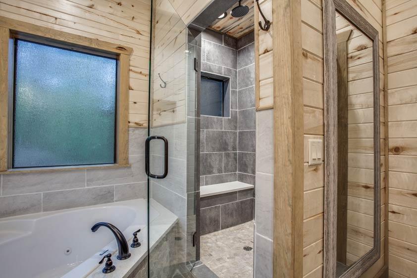 Rustic Hollow Cabin | Master Bathroom #1