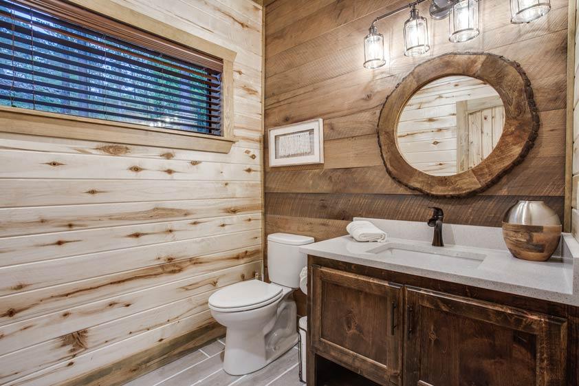 Rustic Hollow Cabin | 1/2 Bathroom