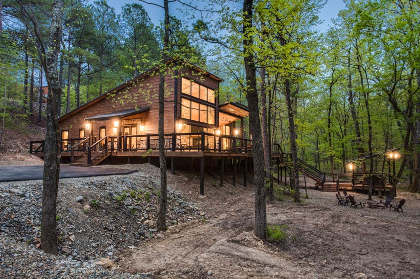 Rustic Hollow Cabin | Outdoor Deck and Hot Tub