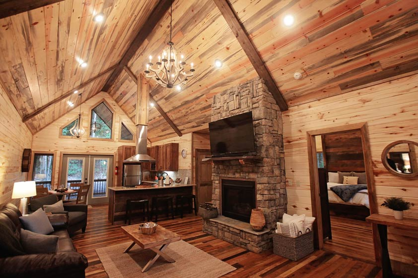 Rustic Retreat | Living Room & Kitchen