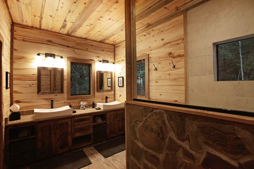 Rustic Retreat | Master Bathroom #1