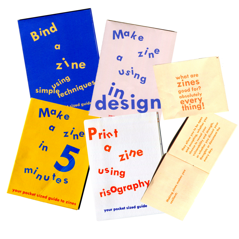 ✄ Helpful things: Zine Making Kits    You can now grab these tiny but equally vital tools to get you started on your own self publishing adventure. Perfect for pockets, taking to workshops or using in zine club. Buy    here   .
