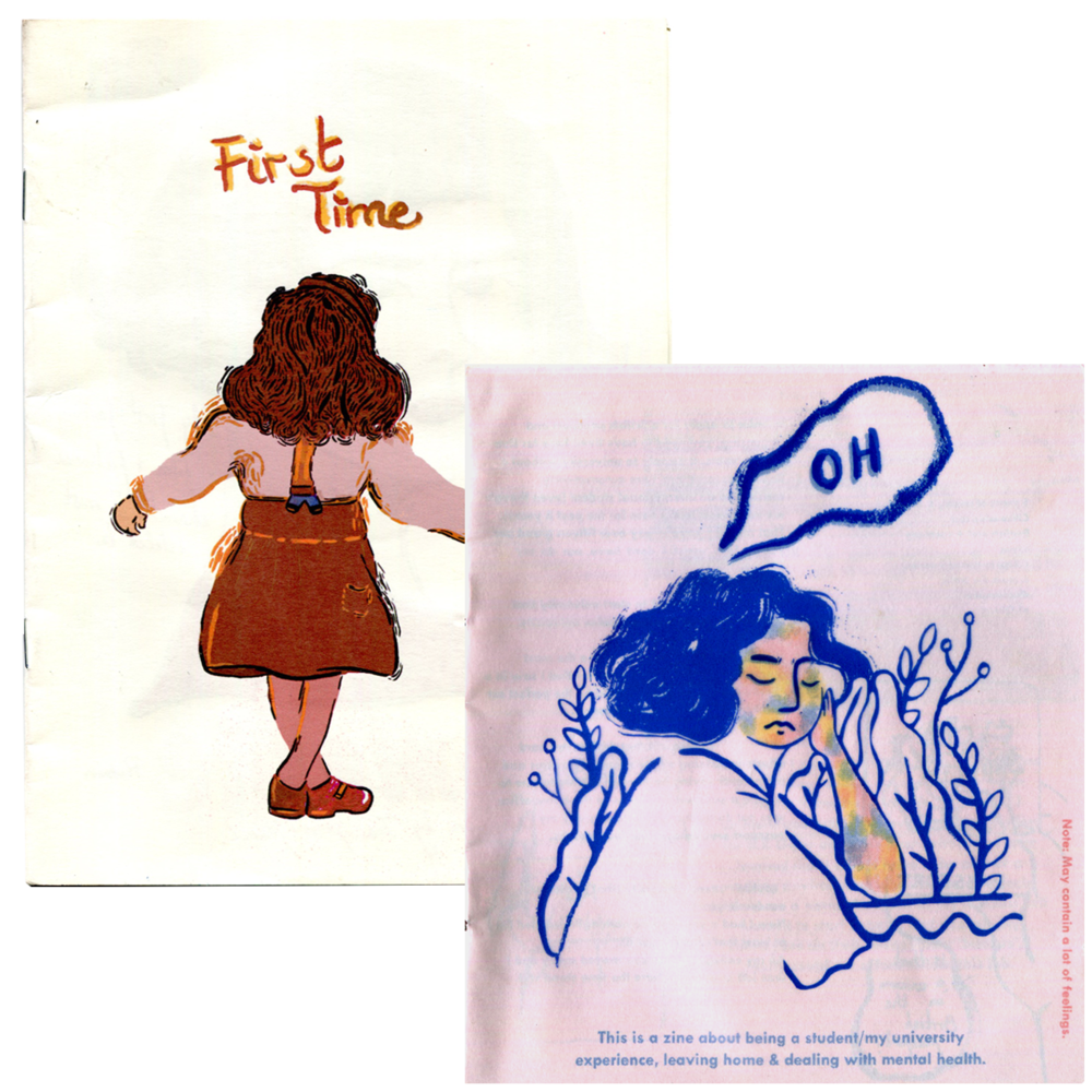 ✄ Per-zines exploring identity and longing: First Time, OH issue I