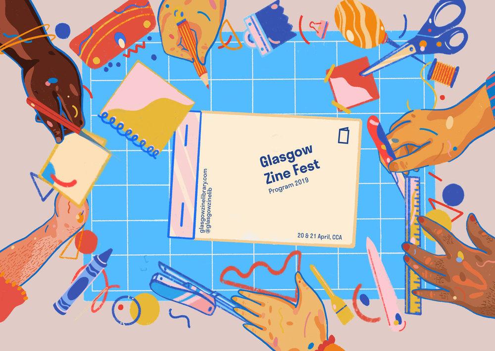 Glasgow Zine Fest    Programme cover, 2019