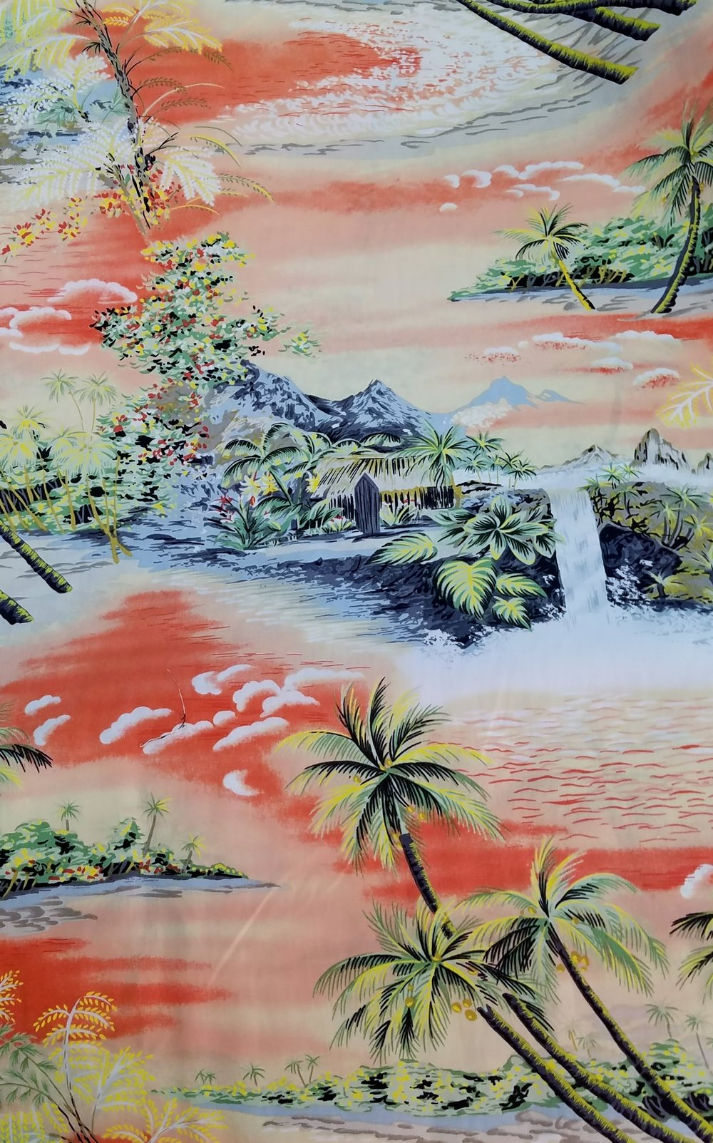 Coral Beaches, just a splash of silver on the waves makes a magical scene. Fresh, cotton sheeting is silky smooth and cool. A perfect fabric for dresses, shirts, blouses, tops, even pull on pants.