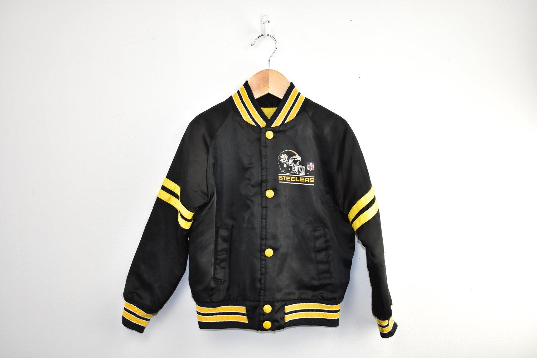huge discount 76ab1 9afeb Vintage Pittsburgh Steelers Bomber Jacket 6T/7 — KIDZKANDI VINTAGE
