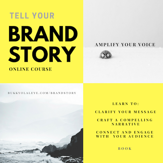 Brand story bukkyolaleye.com