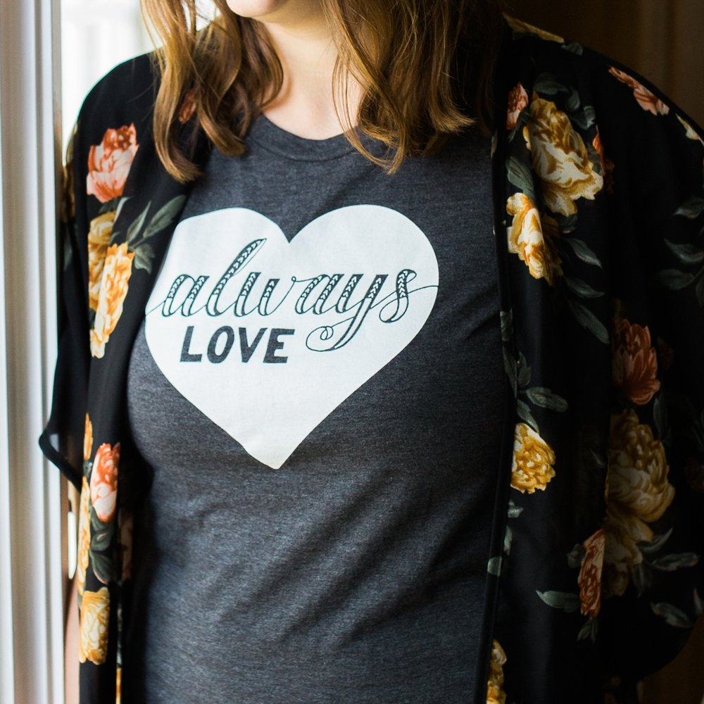 """Always Love"" design for Hey Lola Art Co., Inc."