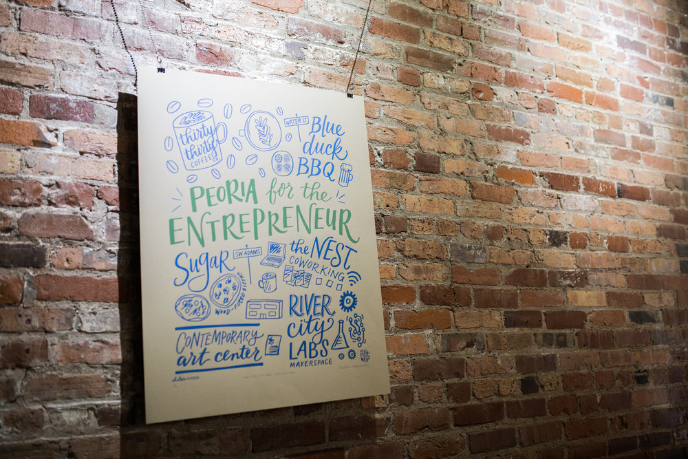 Peoria for the Entrepreneur Poster