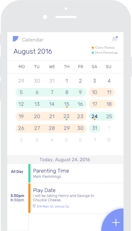 The App for a better co-parenting experience