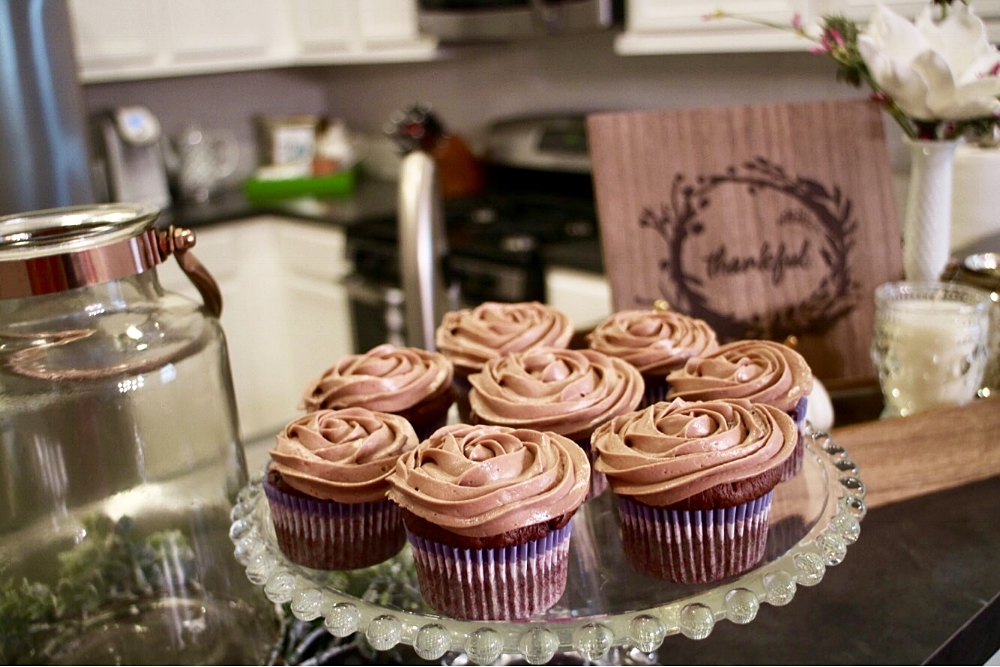 Chocolate Nutella cupcakes made my family and neighbors day a little brighter... Sometimes it is the little things that can make a difference. Use your gifts to love people around you.