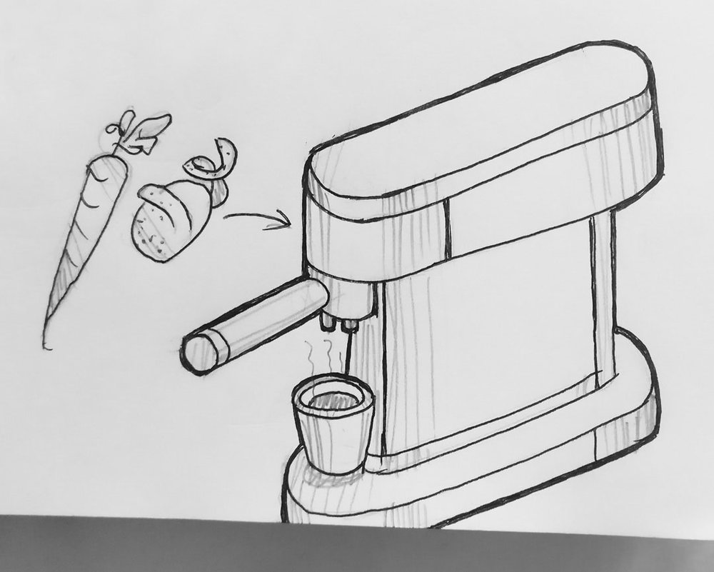 Day 11 : Instant broth brewer. It works as quickly as an espresso machine using vegetable waste like carrot peels, and cooks delicious robust, concentrated broth #100DaysofFooood #The100DayProject