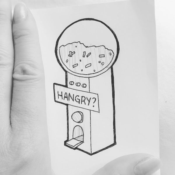 Day 32 : Please help us. My sister really needs Hangry Stations. Little dispensers around the city that hand out emergency pellets to keep her going for another 15 minutes until we get to real food @orbed_maiden #100DaysofFooood #the100dayproject