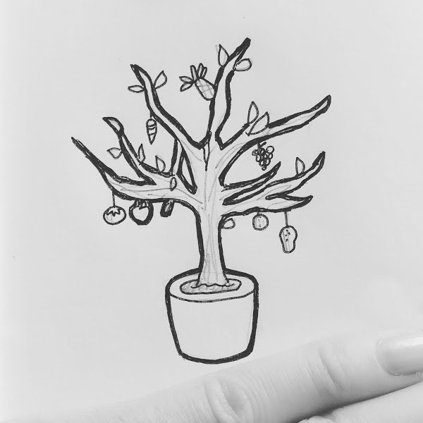 Day 33 : An easy to maintain, GMO'd miniature fruit and vegetable tree that produces food packed with enough nutrients, they constitute an entire meal. For inarable lands and low income families #100DaysofFooood #the100dayproject
