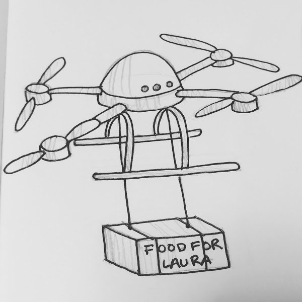Day 39 : Long distance drone food delivery for remote areas...Also for me because I'm craving food from Portland right now... #100DaysofFooood #the100dayproject