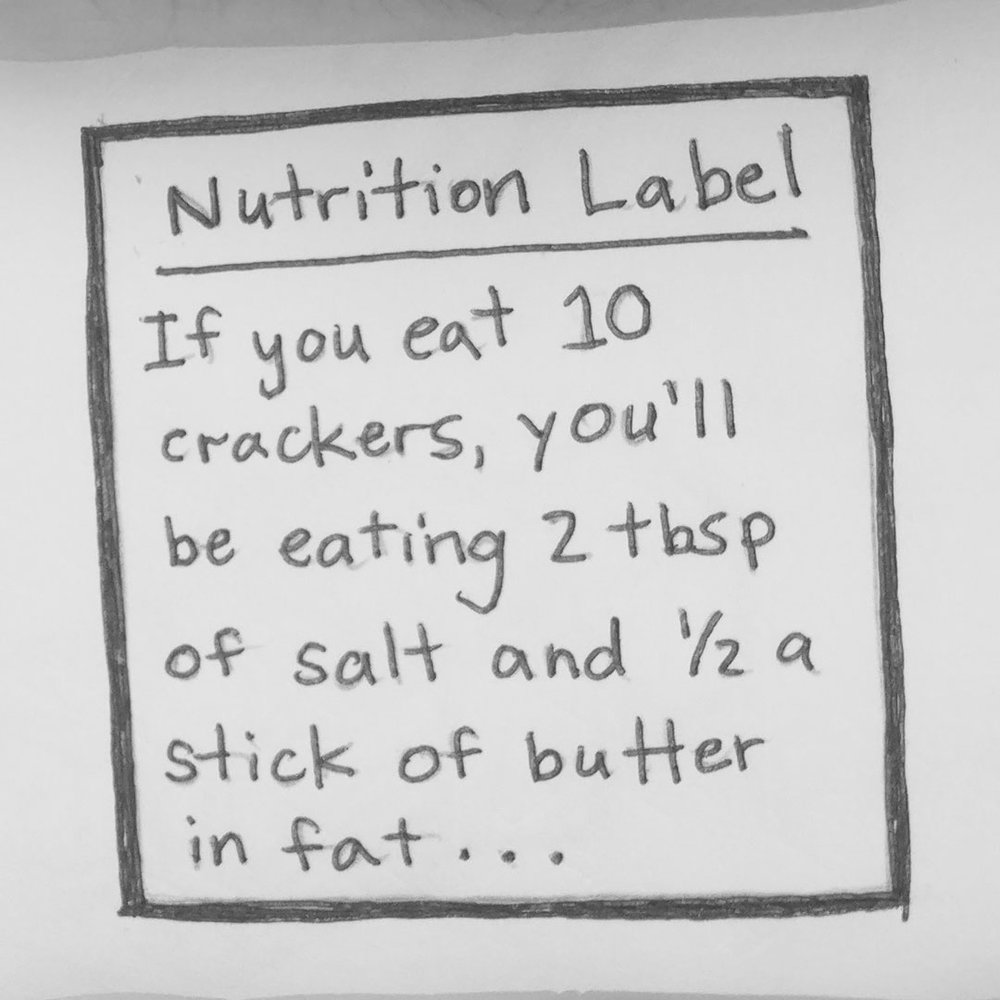 Day 59 : Change nutrition labels to be more user-friendly. They're confusing and unreadable for the average person. You only need to show a few important things, and they should be accessible to people of all ages and backgrounds #100DaysofFooood #the100dayproject