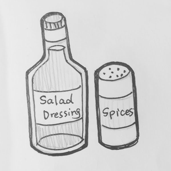 Day 81 : I always want little tasters of all the crazy salad dressings and spices in the grocery stores. So many... which one do I buy? #100DaysofFooood #the100dayproject