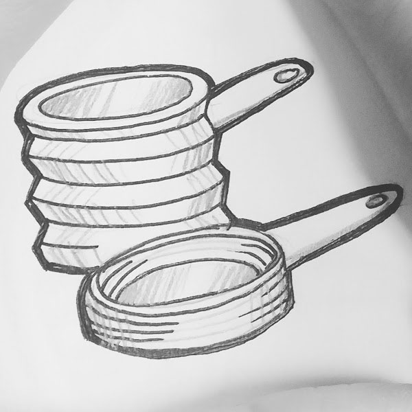 Day 85 : Collapsible/expandable pots and pans #100DaysofFooood #the100dayproject