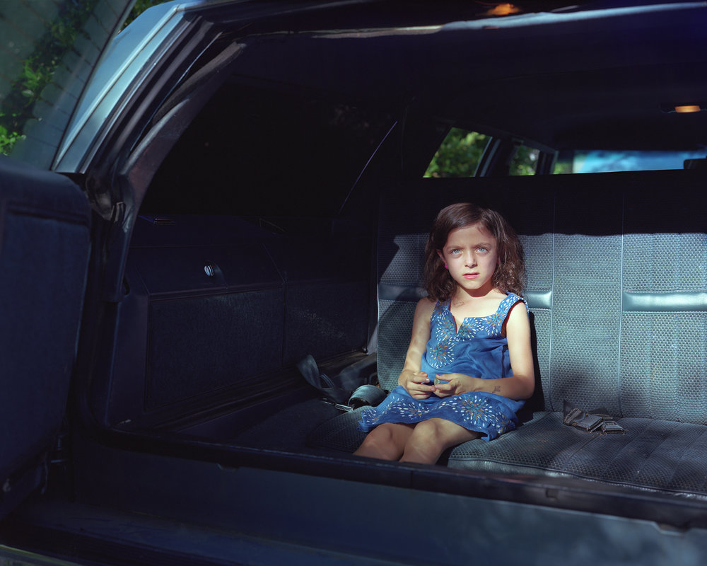 Cynthia Henebry,   Mavis in the Backseat,  2016  Photograph  Image courtesy of the artist