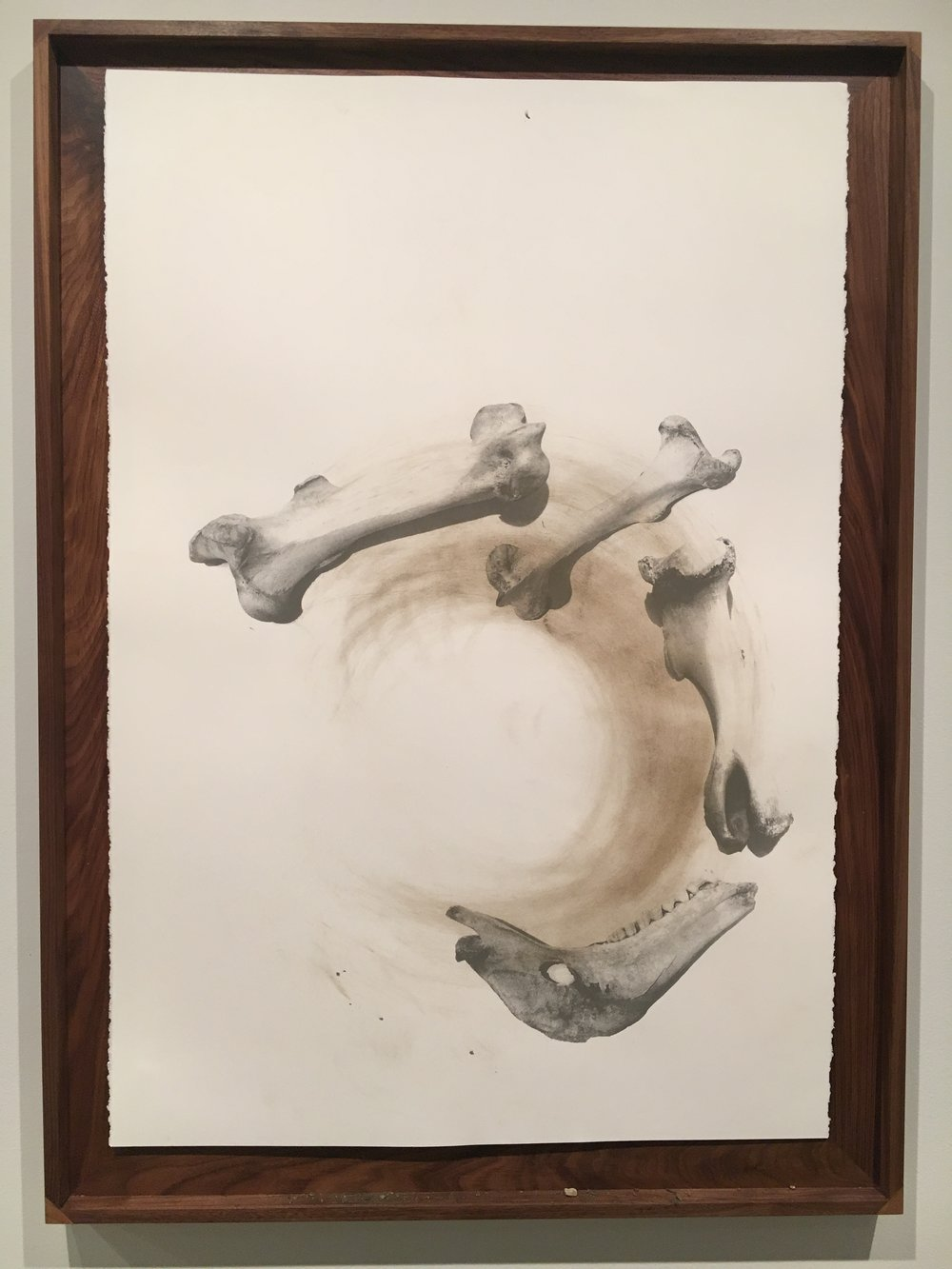 Nate Young,   Casting 3,  2017  Serigraph with earth and graphite on paper  Image courtesy of the Visual Arts Center of Richmond