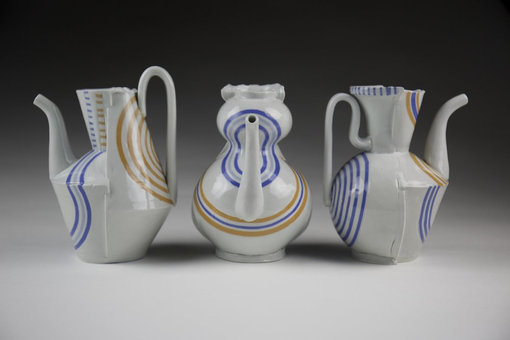 Blair Clemo ,  Pouring Pots , 2017                                  Porcelain Image courtesy of the artist
