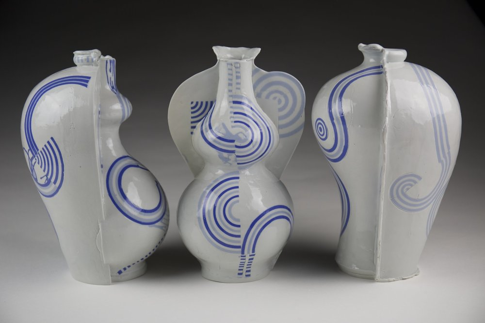 Blair Clemo ,  Vases , 2017                                  Porcelain Image courtesy of the artist