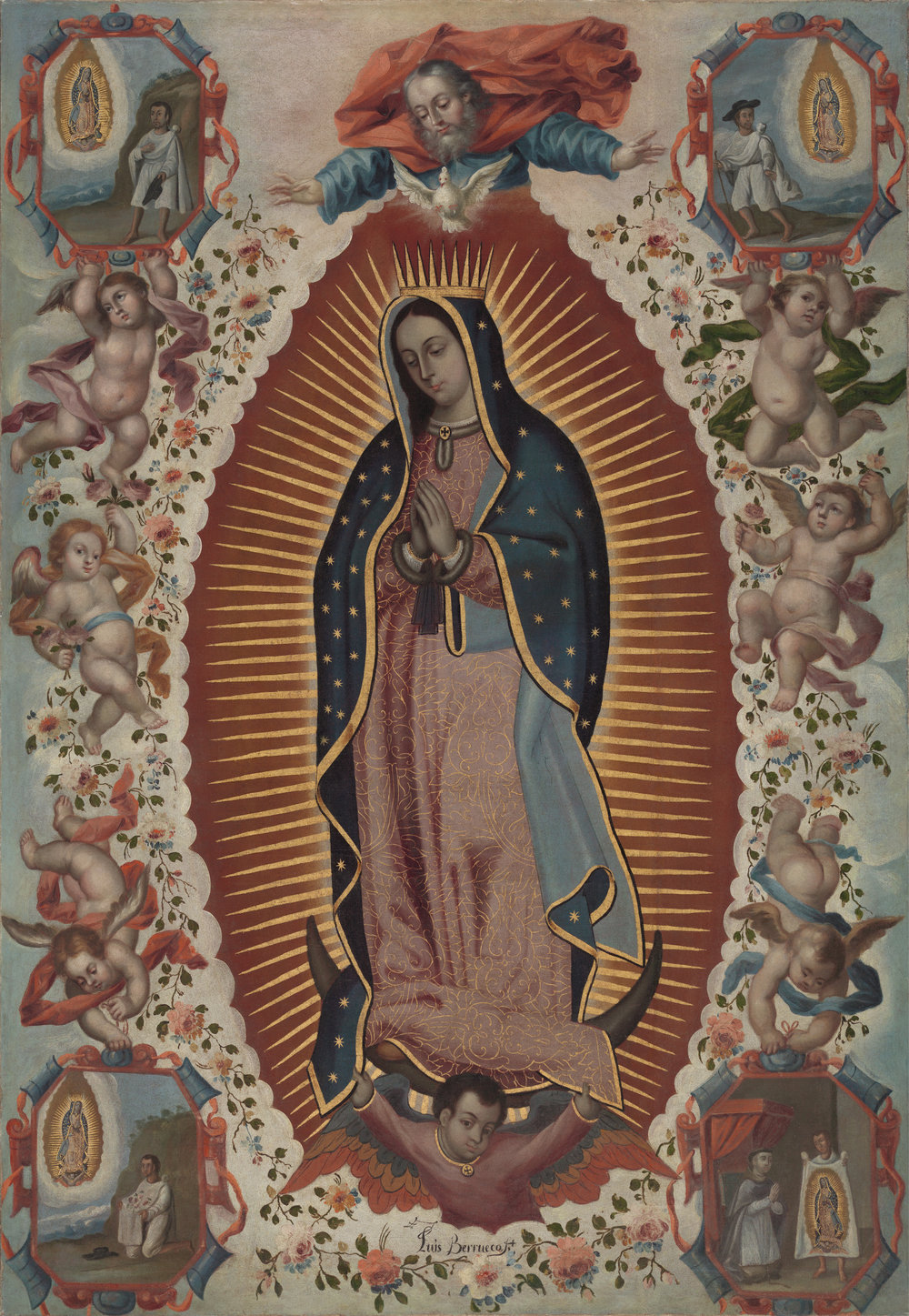 Luis Berrueco,   Virgin of Guadalupe (Virgen de Guadalupe),  mid 18th century  Oil on canvas, Virginia Museum of Fine Arts, Arthur and Margaret Glasgow Endowment  Image courtesy of VMFA