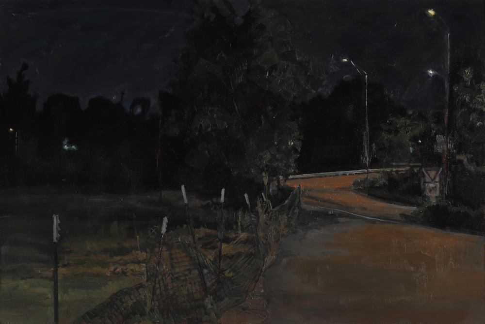 Thomas Van Auken ,  On Ramp , 2014                                Oil on panel Photo by David Hunter Hale