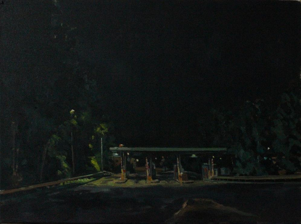 Thomas Van Auken ,  Toll Booth , 2014                            Oil on panel Image courtesy of the artist