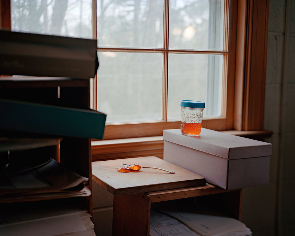 Susan Worsham ,  The Last Jar of Crabapple Jelly that Harrison ate from Before He Died,  2014. Archival pigment print, 20 x 25 inches. Image courtesy of the artist and Candela Books + Gallery, Richmond.