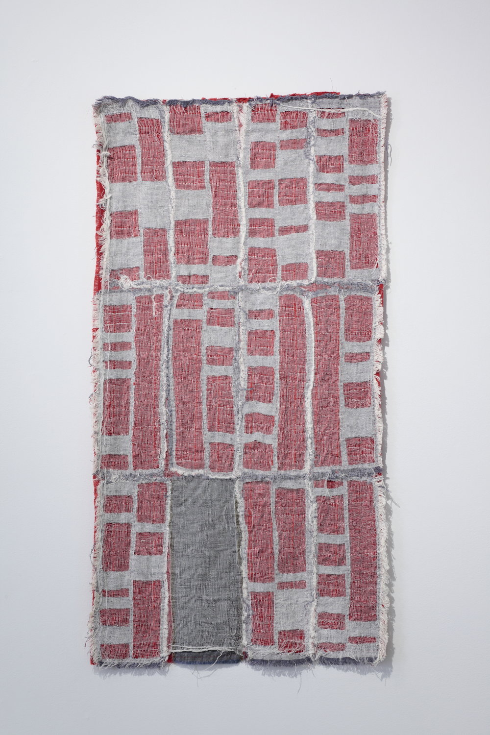 Kathryn Clark,   Detroit Foreclosure Quilt , 2011  cheesecloth, linen, cotton, quilting thread  image courtesy of The Visual Arts Center of Richmond