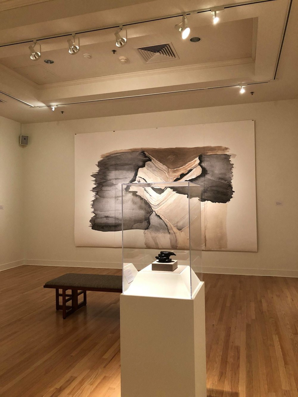 Maria Chavez,   Topography of Sound: Peaks and Valleys Series,  Installation view, 2018  Image courtesy of the artist and University of Richmond Museums