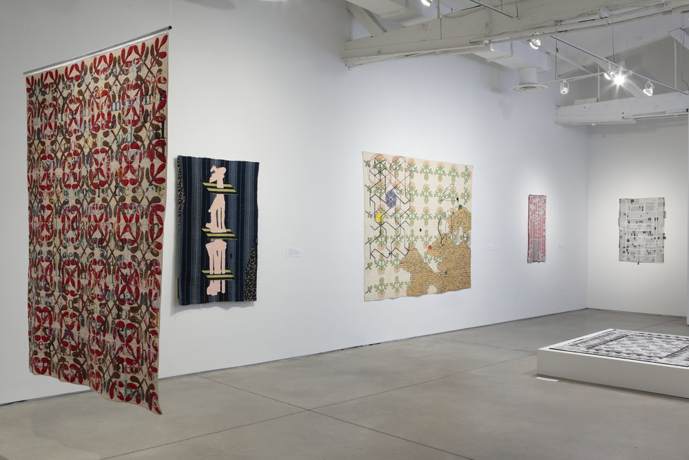 Exhibition view,  The Embedded Message: Quilting in Contemporary Art,  2017  image courtesy of The Visual Arts Center of Richmond