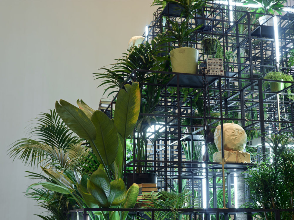 Installation View of Rashid Johnson, Plateaus, 2014. Fondation Louis Vuitton, Paris