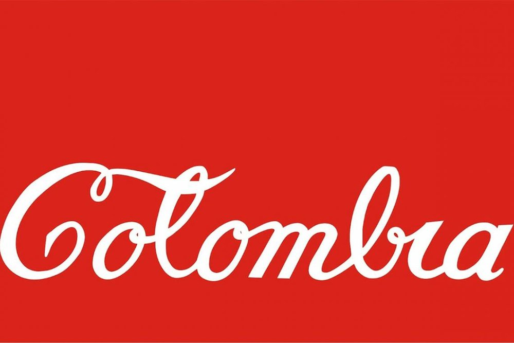 Antonio Caro,  Colombia Coca-Cola , 1976. Enamel on sheet metal, edition 11/ 25, 19.5 x 27.5 inches (49.53 x 69.85 x 2.86 cm). Collection of the MIT List Visual Arts Center, Cambridge, Massachusetts. Purchased with funds from the Alan May Endowment.